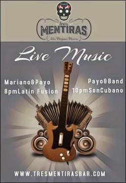Latin Fusion with Mariano & Payo. And Cuban with Payo & Band